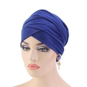 Image 4 - Женский мусульманский шарф с длинным хвостом, тюрбан, хиджаб, шапочка с раком, головной платок, простая повседневная бандана в арабском стиле