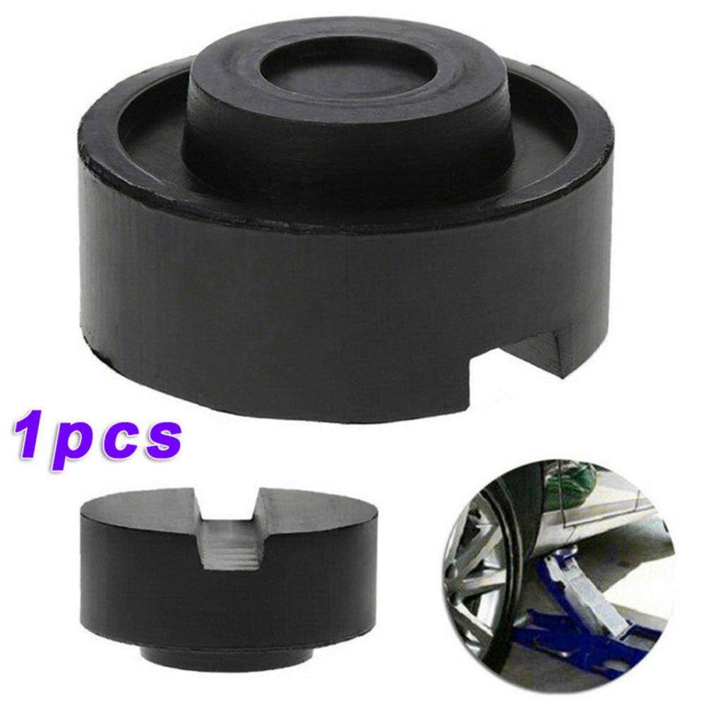 1pc Car Jack Adapter Lift Rubber Pad Stand Holder Universal Support Block Chassis Rail Protector Lifting Tools Black