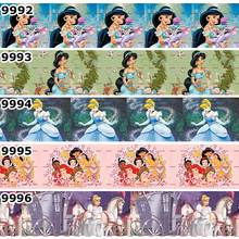 10 ярдов-разные размеры-красивая мультяшная принцесса напечатанная лента/19079992-10011