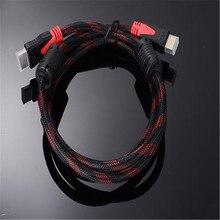 Высокоскоростной кабель HDMI, позолоченное соединение с красной, черной сеткой 1080P, 1,5 м