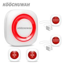 KOOCHUWAH Security Alarms for Home GSM Alarm System Sound Flash SMS Wireless Home Residential Alarm High Quality Alarm Kit SIM wireless gsm alarm home security sms controller king pigeon 4 inputs 2 outputs usb port 2 way communication s140 sms controller
