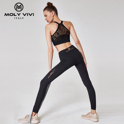 Running 3d Compression Shirt Sweatpants Patchwork Slim Gym Fitness Elastic Jogging Training Leggings Women Sport Pants