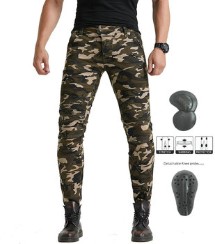 2019 new VOLERO motorcycle camouflage riding jeans TROUSERS motorcycle racing knight Slim-proof pants