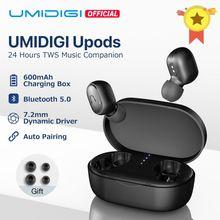 UMIDIGI Upods наушники-вкладыши TWS Bluetooth 5,0 Беспроводной наушники Автоматическое Сопряжение функцией подавления шума снижение с зарядным устройством