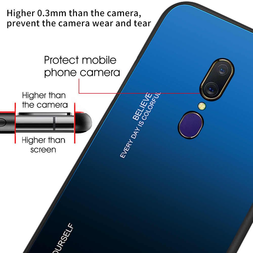 التدرج جراب هاتف ل ممن لهم Realme X 1 R15X K1 F5 F3 F1 F11 A9 2020 نوي 7 الأزياء الغطاء الخلفي ل ممن لهم K1 F5 F3 F1 F11 A9 2020