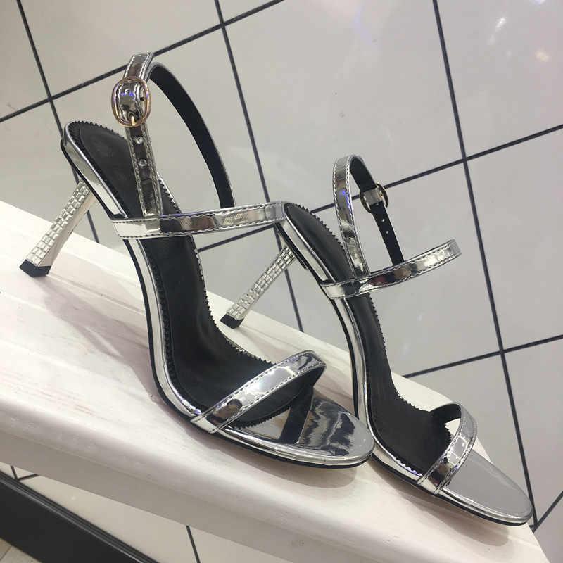 High Heels Sandalen Frauen Sommer Luxus Sandalia Feminina Sexy Leder Alias Mujer 2020 Party Damen Schuhe Zapatos De Mujer