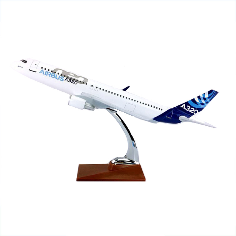 36CM 1/160 Scale Airbus A320NEO Airline Plane Model Diecast Resin Airframe Airplane Toys Fixed wing W Base Aircraft Collectible