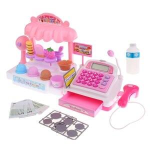 Cash-Register-Set Food-Toy Simulation Store Kids/children Play Ice-Cream Fantasy-Pretend