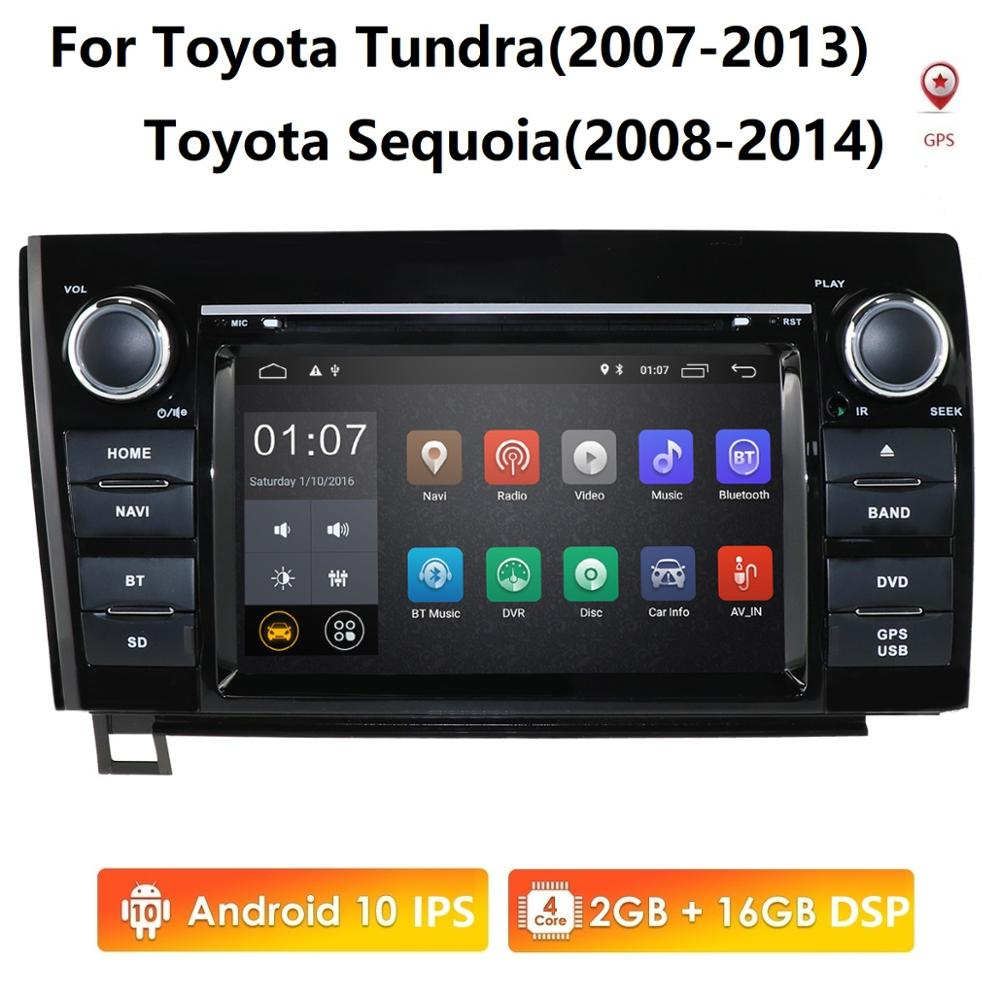 <font><b>7</b></font> <font><b>inch</b></font> <font><b>inch</b></font> <font><b>Android</b></font> <font><b>10</b></font> Car Head Unit for Toyota Tundra Sequoia Car Stereo <font><b>GPS</b></font> Autoradio <font><b>GPS</b></font> BT Radio RDS Mirror-link Wifi 4G PC image