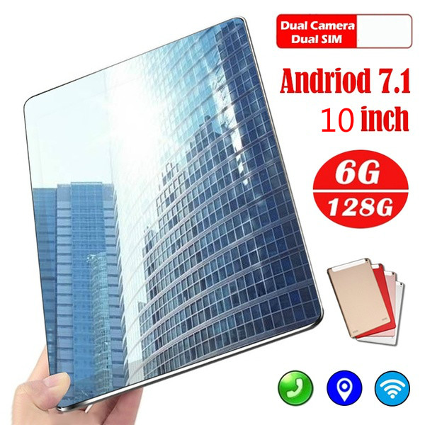 2020 Free Shipping 10 Inch Tablet Pc Dual SIM 4G Phone Tablet WIFI Andriod 7.1 Ten Core 6G+16G/64G/128G Phone Pad Gift Tablet
