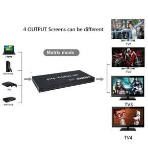 Image 5 - HDMI 2.0 4K 60Hz HDMI Matrix 4x4 Switcher Splitter 4 In 4 Out anahtarı bölünmüş 1080P gerçek Matrix ses Video dönüştürücü w/ RS232 EDID