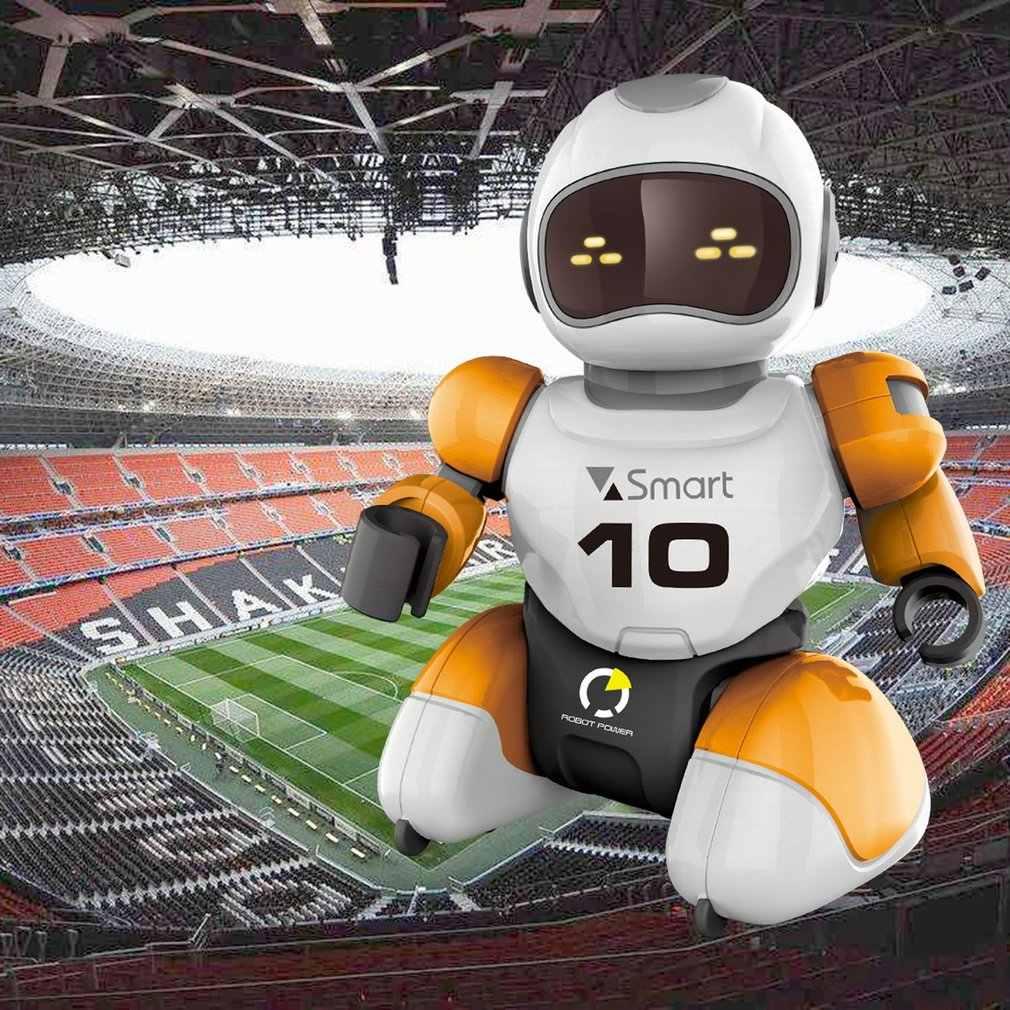 RC רובוט Kawaii קריקטורה חכם לשחק כדורגל רובוט שלט רחוק צעצועי חשמלי שירה ריקוד כדורגל רובוט לילדים ילד צעצוע