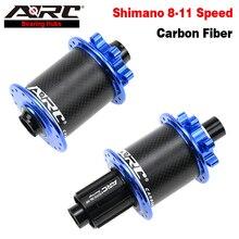 цена на ARC 2020 Fashion Carbon Hub For MTB Bicycle Cycling Hub Freewheel Hub Disc Hub Thru Axle 12x148 Hub Shimano 32H Bike Accessories