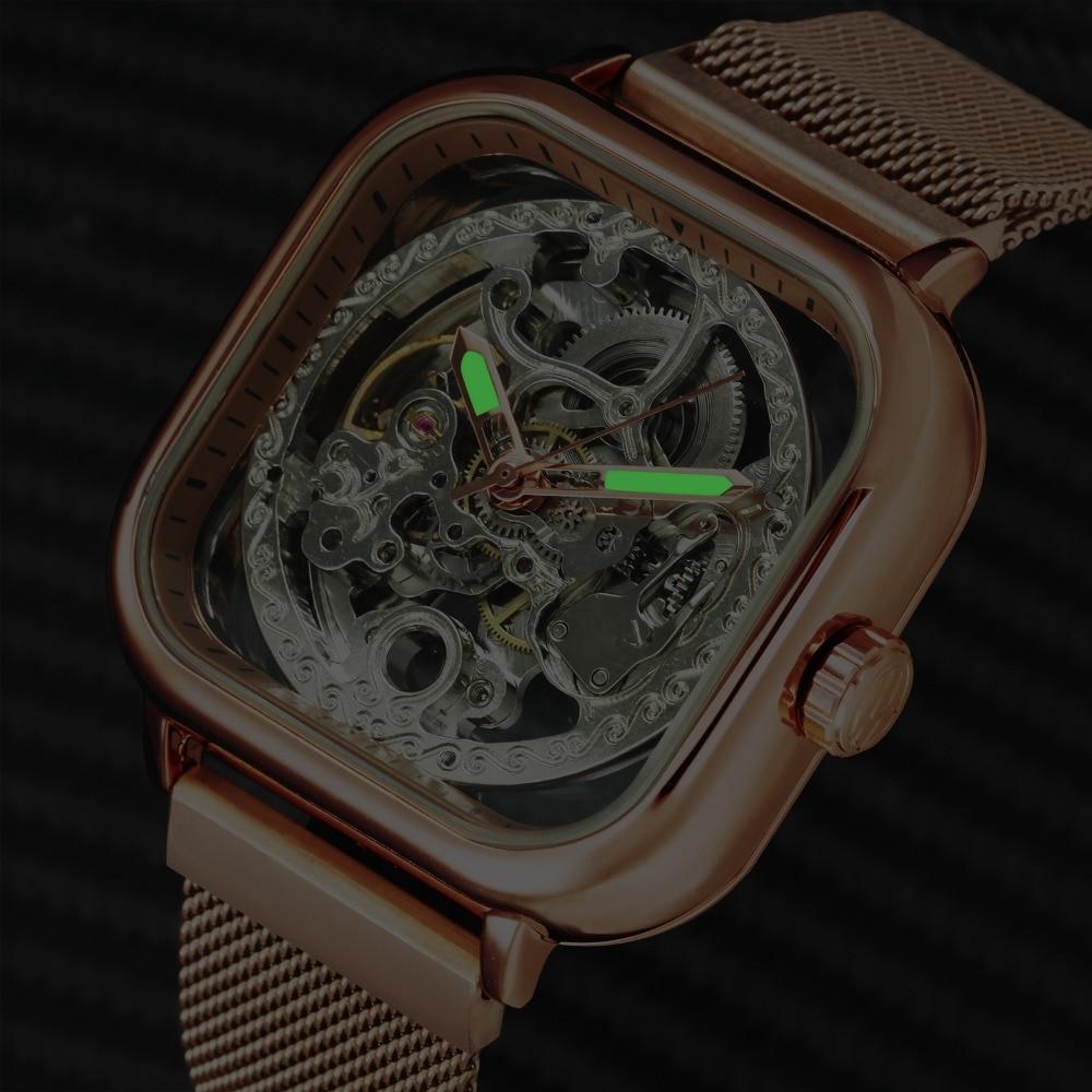 H0136051884814d16a072d1d81b6b7439a FORSINING Top Brand Luxury Unisex Watch Men Auto Mechanical Hollow Dial Magnet Strap Fashion Royal Wristwatch HIP HOP Male Clock