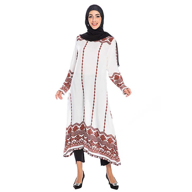 Vestidos Abaya Truthahn Islamischen Arabischen Muslimischen Kleid Kaftan Dubai Kaftan Frauen Lange Bluse Shirt Weiß Schwarz Große Größe