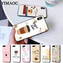 Funny Ok But First Coffee Book Silicone Case for iPhone 5 5S 6 6S Plus 7 8 11 Pro X XS Max XR