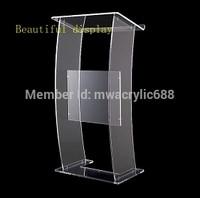 Ambona furnitureFree wysyłka nowoczesny Design tanie przezroczysty przejrzysty akryl ambona akrylowa pleksi w Biurka do recepcji od Meble na
