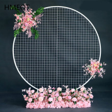 Decor-Props Backdrop Flower-Stand Mesh Grid Wedding-Arch Artificial DIY Wrought-Iron-Shelf