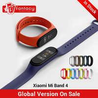 Auf Lager Neue Xiao mi mi Band 4 Smart mi band 4 0,95 AMOLED Bildschirm Wasserdicht Herz Rate Fitness 135mAh 20 Bluetooth 5,0 50ATM