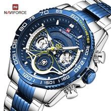 NAVIFORCE zegarki męskie luksusowa marka Sport zegarek kwarcowy dla mężczyzn wodoodporny wielofunkcyjny zegar cyfrowy Relogio Masculino