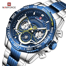 NAVIFORCE Men's Watches Luxury Brand Sport Quartz Wrist Watch For Men Waterproof Multi-function Digital Clock Relogio Masculino