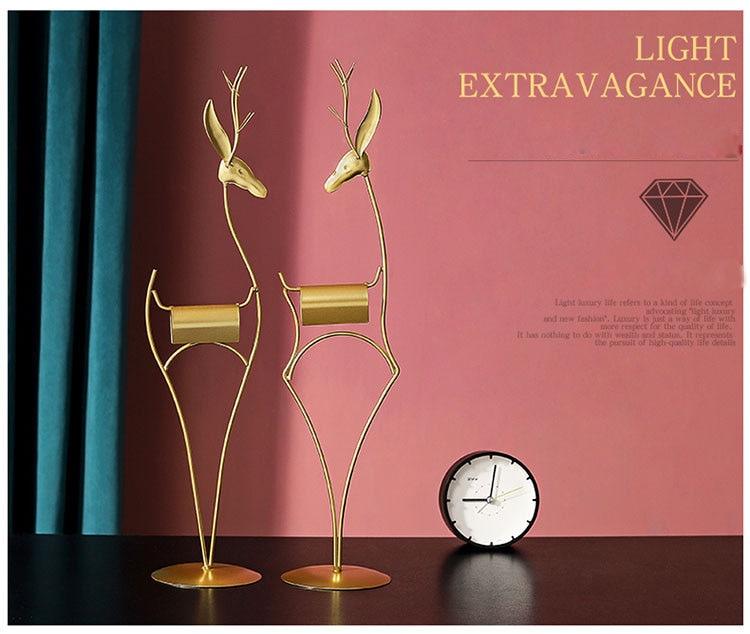 Скандинавский светильник роскошный Золотой олень железное искусство