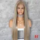 Поддельные головы 13*6 кружева передние прямые медовые светлые человеческие волосы парики с детскими волосами для черных женщин предварител...
