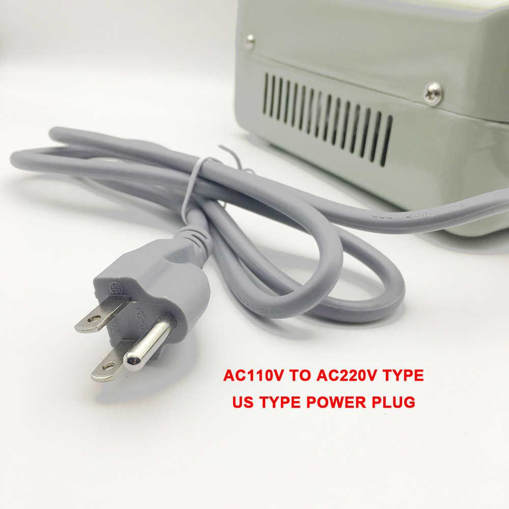 Transformador de 2000W AC110V a 220V AC convertidor de potencia cargador adaptador de viaje profesional convertir AC220V a voltaje de 110V hembra
