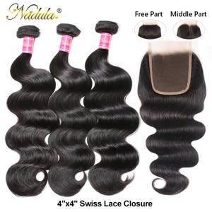 Image 2 - Nadula Hair Brazilian Body Wave Bundles With Closure 4*4 Lace Closure Brazilian Hair Weave Bundles With Closure Black Friday