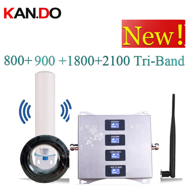 4 Band BOOSTER 4G LTE800 900 1800 2100 Cell Phone Booster Mobile Signal Amplifier 2G 3G 4G LTE Repeater GSM DCS WCDMA 3G 4G