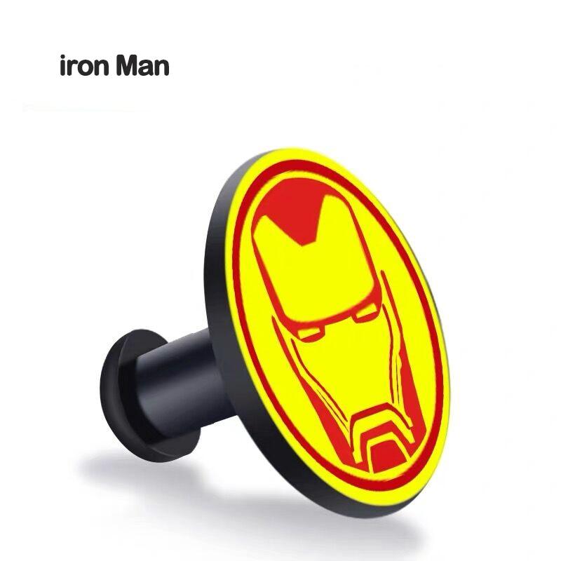 Пряжка для xiaomi mi band 4, 3, 2, mi Band 4, 3, 2, 1, ремешок с узором, кнопка, браслет mi band 4, ограниченная серия, аксессуары для наручных ремней - Цвет: iron Man