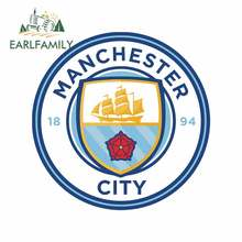 EARLFAMILY 13cm x 13cm for Manchester Funny Car Stickers Vinyl 3D Funny Car Sticker Suitable for VAN RV SUV Scratch-proof Decal