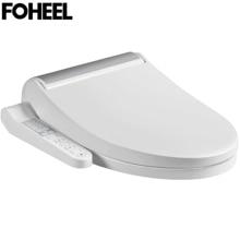 FOHEEL asiento de inodoro inteligente para Wc, asiento de baño con Panel de Control, masaje en seco y eléctrico, lado plateado y dorado, calefacción inteligente para bidé