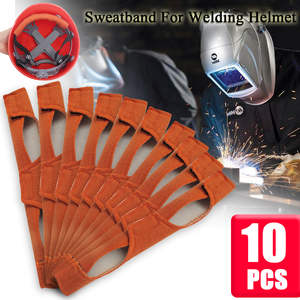 10PCS/set Suspender Sweat Band Helmet Sweat Band Soft Worker Welding Grip Hard Hat Helmet Hat Standard Replacement Sweatband