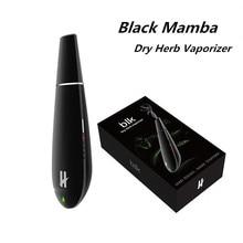 Original Blk Black Mamba Dry Herb Vaporizer Electronic Cigarettes 1600mAh Battery Ceramic Heat-Chamber Herbal Vape Pen Kit