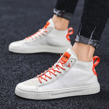 Male Shoe Tide Shoes Thin New Pattern Cloth Shoe Male In High Help Shoes Male Summer Korean Trend All-match Shoes Work Shoe