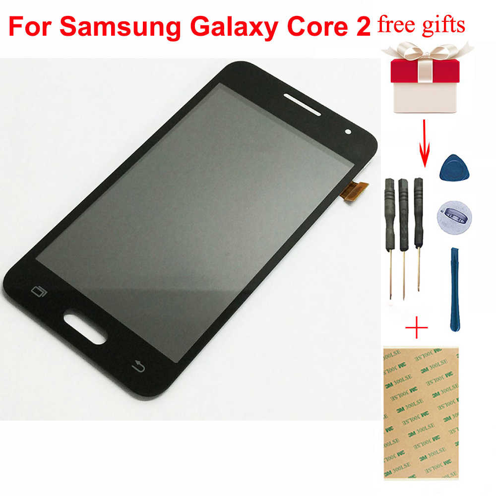 LCD For Samsung Galaxy Core 2 G355 G355H G355M LCD Display Panel Screen Digitizer Touch Screen Sensor Glass Assembly Replacement
