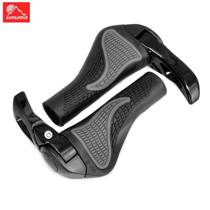Cycling Handle Grips Anti-slip Rubber Alloy Mountain Bike lock-on Handlebar Grip