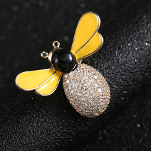 Crystal Brooch Jewelry Luxury Stereo Creative Small Bee Top Grade Accessories Gift Drop Ship Fashion 2020