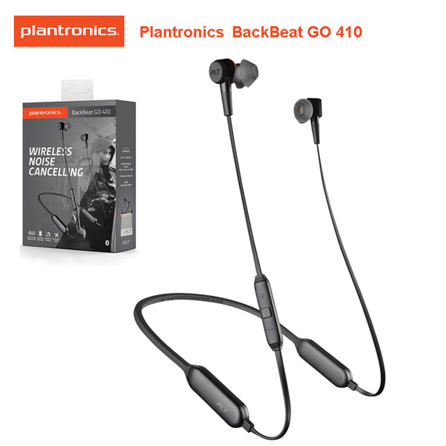 Original PLANTRONICS BACKBEAT GEHEN 410 Drahtlose Aktive Noise Cancelling Ohrhörer Dual Modus Patent Angemeldete Magnetische Sensoren Headset
