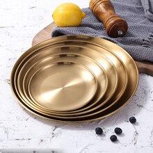 Европейский стиль, обеденные тарелки, Золотая обеденная тарелка, Сервировочные блюда, круглая тарелка, поднос для торта, Западный стейк, круглый поднос, кухонные тарелки