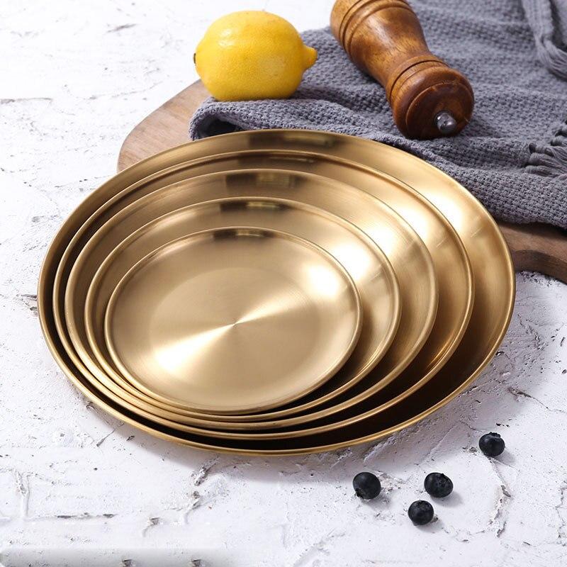 Европейский стиль, обеденные тарелки, Золотая обеденная тарелка, Сервировочные блюда, круглая тарелка, поднос для торта, Западный стейк, круглый поднос, кухонные тарелки|Блюдца и тарелки|   | АлиЭкспресс - Красивая кухня