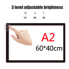 60*40cm A2 Size photographic drawing tablet led drawing light pad illuminating tracing board,ultra-thin portable tool
