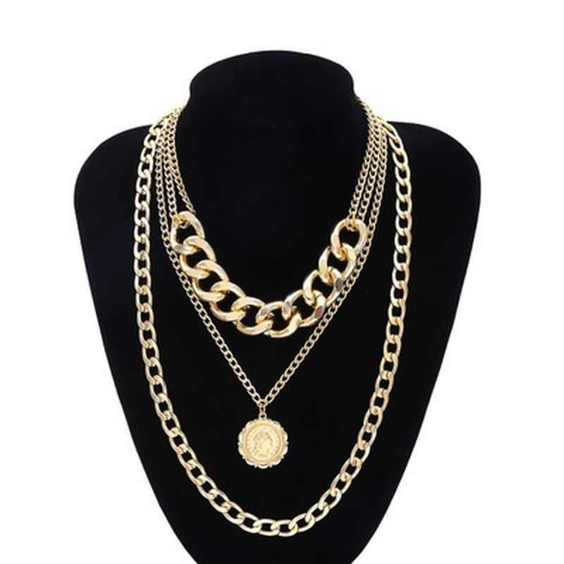 Punk Miami kubański Choker naszyjnik przesadzone gruby łańcuch europejska i ameryka moda królowa wisiorek naszyjnik kobiety biżuteria
