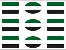 Pegatina Bandera Rectángulo 9 uds. Extremadura 16x11 mm/ud.