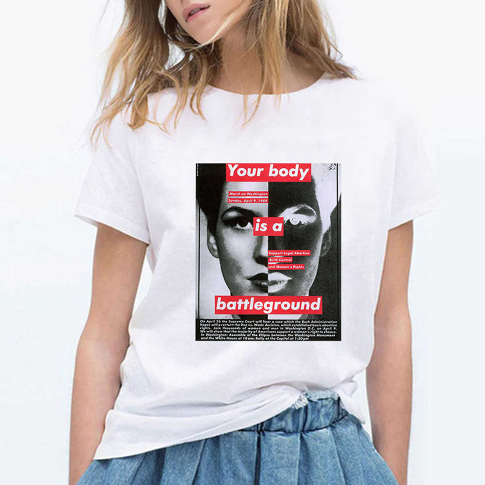 Trendy Kawaii Streetwear Frühling Sommer Vogue Casual T-shirt Lustige Grafik Punk Feminismus Pop T-shirt Runde Kragen Harajuku T hemd