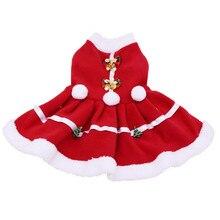 Рождественская Одежда для собак, однотонное платье, костюм для собак, кошек, пальто для маленьких собак, толстовка с изображением котов, мультяшная одежда для домашних животных, Ropa para perro