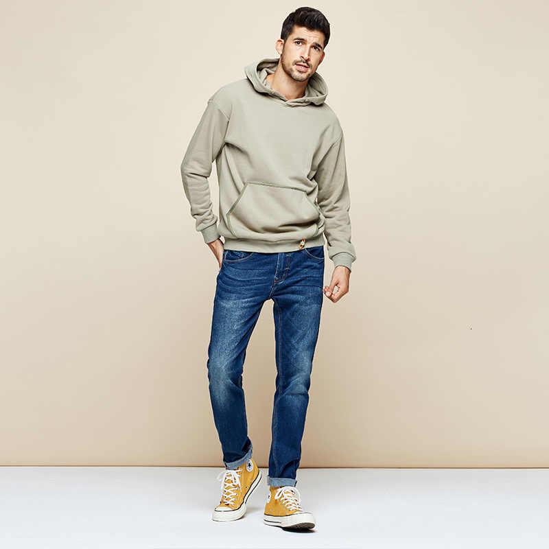 KUEGOU 2019 ฤดูใบไม้ร่วง 100% กระเป๋าผ้าฝ้ายธรรมดา Hoodie Hoody Hip Hop ญี่ปุ่น Streetwear ชายแฟชั่นแขนยาวใหม่ 1746
