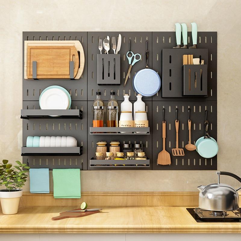 Stainless Steel Wall Mounted Kitchen Storage Rack Dish Drainer Plate Drying Shelf Hooks Cutlery Holder Oragnizer Accessories