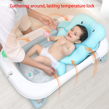 Portable Foldable Newborn Baby Folding Large Bath Tub Baby Swim Smart Tub Bath Body Washing Children Shower Non-Slip Kid Bathtub